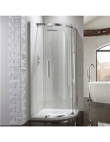 Frontline Aquaglass+ Elite 800 x 800mm 1 Door Quadrant Enclosure