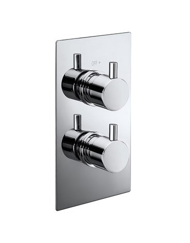 Pure Twin Concealed Thermostatic Shower Valve