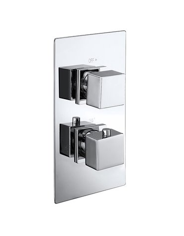 Cube Twin Concealed Thermostatic Shower Valve