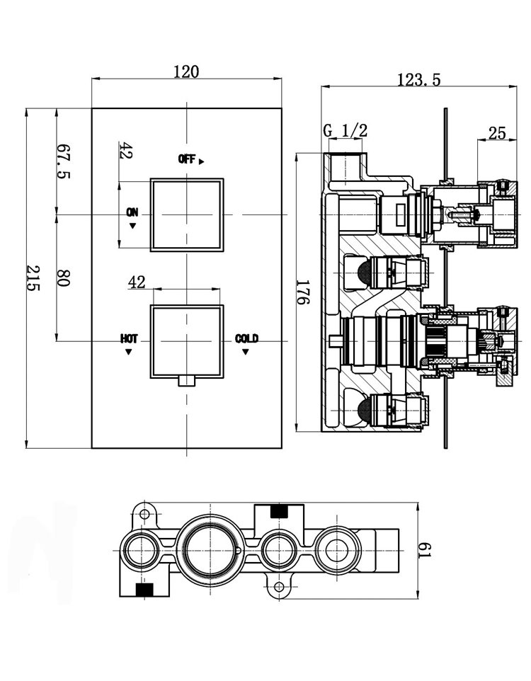 82402 also Wiring Diagram For Electric Shower besides 1000038063 in addition Thermostatic Shower Valve With Divertor 2 Outlets Over Head And Slide Rail Kit Square Handles 66763 additionally Shower Faucet Parts. on shower diverter valve product