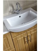 Aquachic 600mm Vanity Unit & Basin - Natural Oak