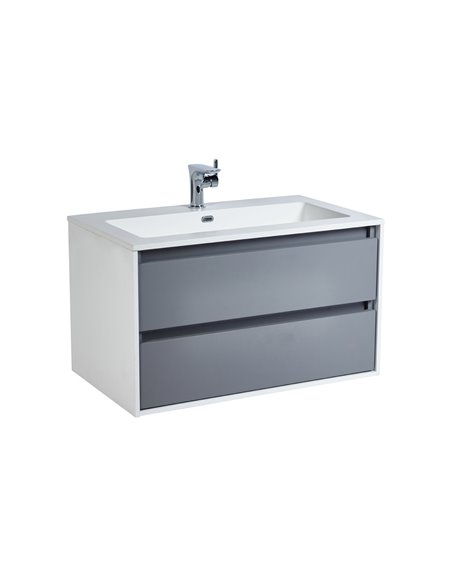 Aquanatural 750mm Vanity Unit & Basin - Slate Grey