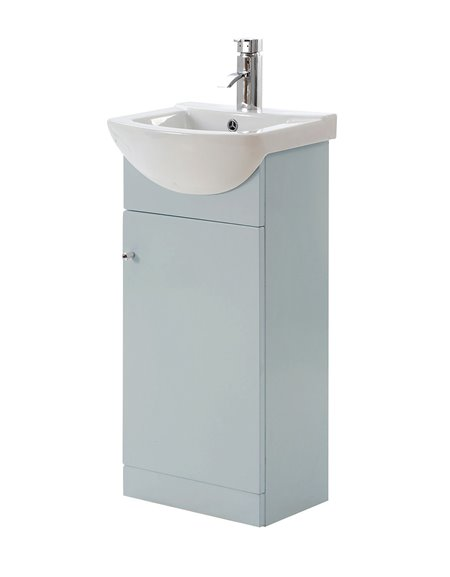 Aquapure 450mm Cloakroom Unit & Basin - Pearl Grey