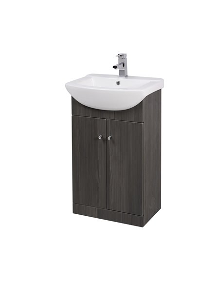Aquapure 550mm Cloakroom Unit & Basin - Avola Grey