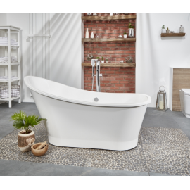 Frontline Aquanatural Hamilton 1595 x 730mm Stone Resin Freestanding Bath