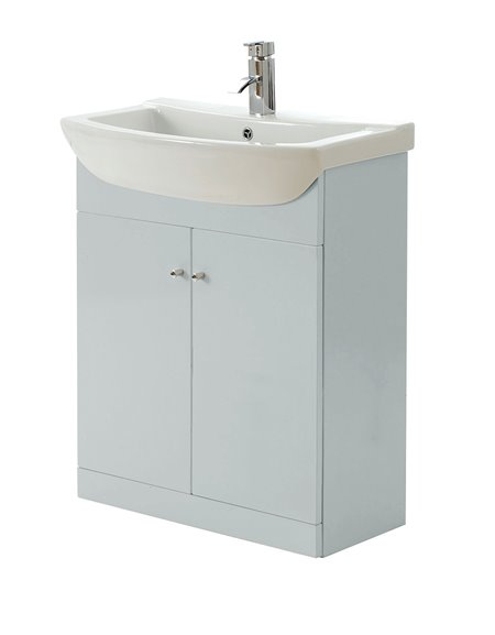 Aquapure 650mm Vanity Unit & Basin - Pearl Grey