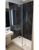 Eden 300mm x 2000mm Hinged Wetroom Return Panel - 10mm Glass