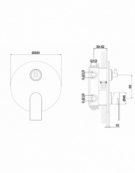 Strand Concealed 3-Way Shower Valve with Diverter