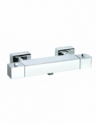 Cubix Exposed Thermostatic 1-Way Shower Bar Valve