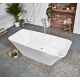 Frontline Aquanatural Elite 1700 x 750mm Square Stone Resin Freestanding Bath