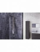 Trac Thermostatic Shower Panel with Built-In Massage Jets