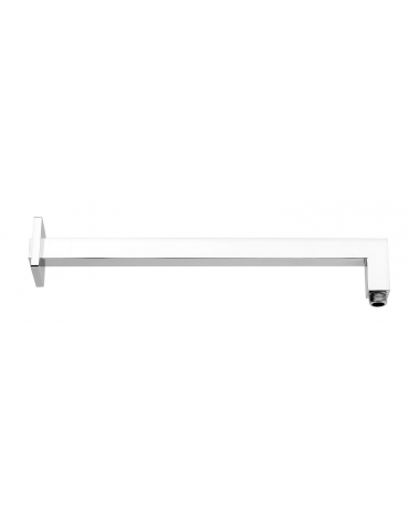 Square Brass Shower Arm - Chrome