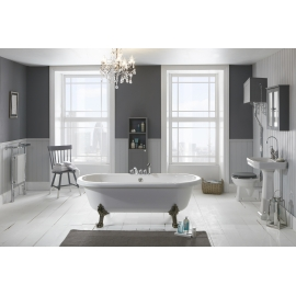 Frontline Notting Hill 1750 x 800mm Stone Resin Freestanding Bath