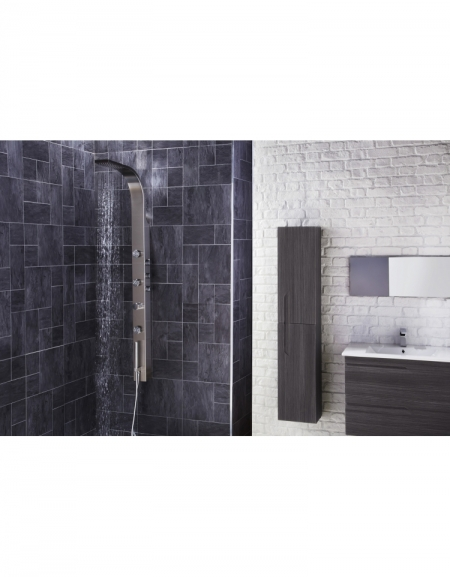 Garda Thermostatic Shower Panel with Built-In Massage Jets