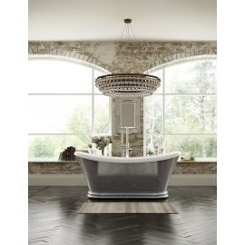 Frontline Knightsbridge 1700 x 740mm Freestanding Bath - Double Ended