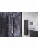 Emme Thermostatic Shower Panel with Built-In Massage Jets