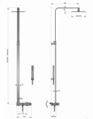 Strand Thermostatic Shower Column