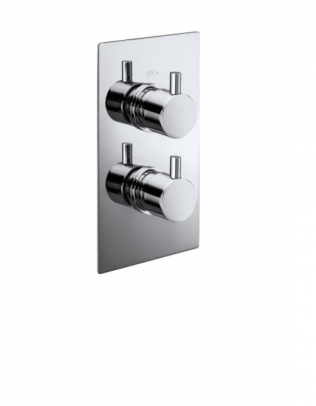 Pure Twin Concealed Thermostatic 1-Way Shower Valve