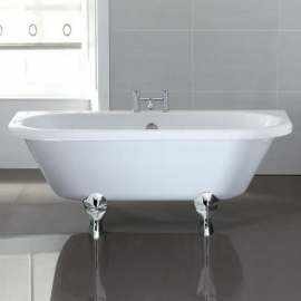 April Kildwick 1700 x 750mm Back To Wall Freestanding Bath