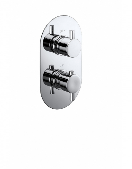Evoke Twin Concealed Thermostatic 1-Way Shower Valve