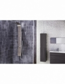 Dharma Thermostatic Shower Panel with Built-In Massage Jets & Water Blade