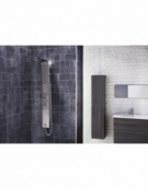 Modo Thermostatic LED Shower Panel with Massage Jets & Water Blade