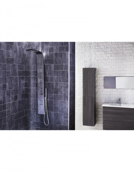Pano Thermostatic Shower Panel with Movable Massage Jets & Water Blade
