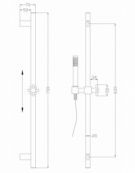 Blok Square Slide Rail Shower Kit