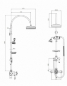 Edwardian Exposed Thermostatic Shower Column Pack