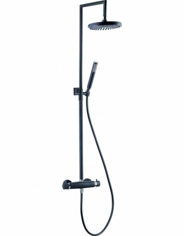 Nero Black Thermostatic Shower Column
