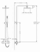 Montreux Thermostatic Shower Column