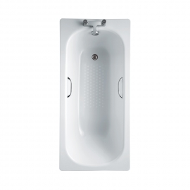 Frontline Steel 1500 x 700mm Gripped Antislip Bath
