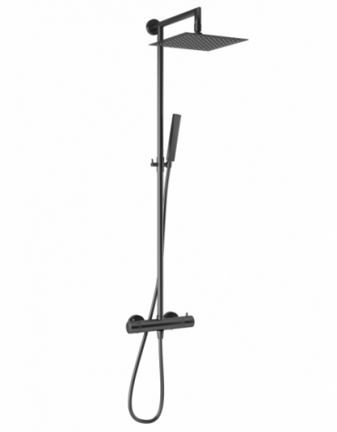 Velar Square Black Shower Column