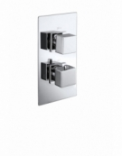 Cube Twin Concealed Thermostatic Shower Valve with Diverter