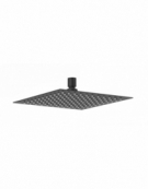 Square Ultra Thin Designer Shower Head - Matt Black