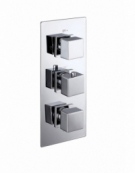 Cube Triple Concealed Thermostatic 2-Way Shower Valve