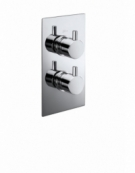 Pure Twin Concealed Thermostatic Shower Valve with Diverter