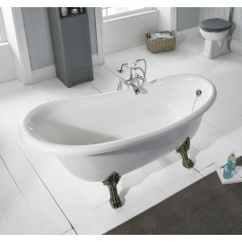 Frontline Norton 1680 x 760mm Stone Resin Slipper Bath