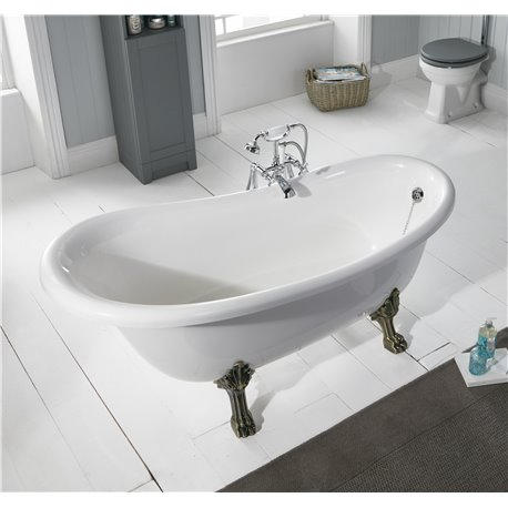 Frontline Norton 1570 x 765mm Stone Resin Slipper Bath