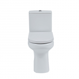 Frontline Compact Rimless Open Back C/C WC with Soft Close Seat