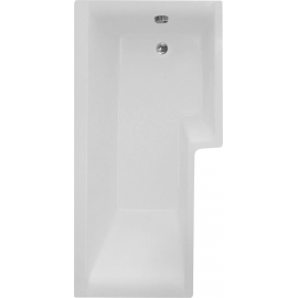Frontline Blok 1600 x 700mm Shower Bath with Panel and Screen