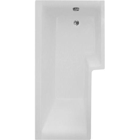 Frontline Blok 1700 x 700mm Shower Bath with Wooden Panel and Screen