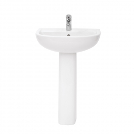 Frontline Compact 550mm Basin (2 Tap Holes)