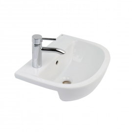 Frontline Compact 550mm Semi-Recessed Basin