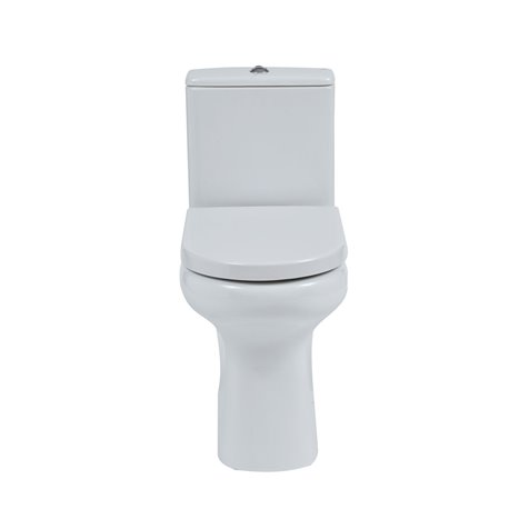 Frontline Compact Rimless Flush To Wall WC with Soft Close Seat
