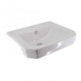 Frontline Holborn 550mm Semi-Recessed Basin (2 Tap Holes)