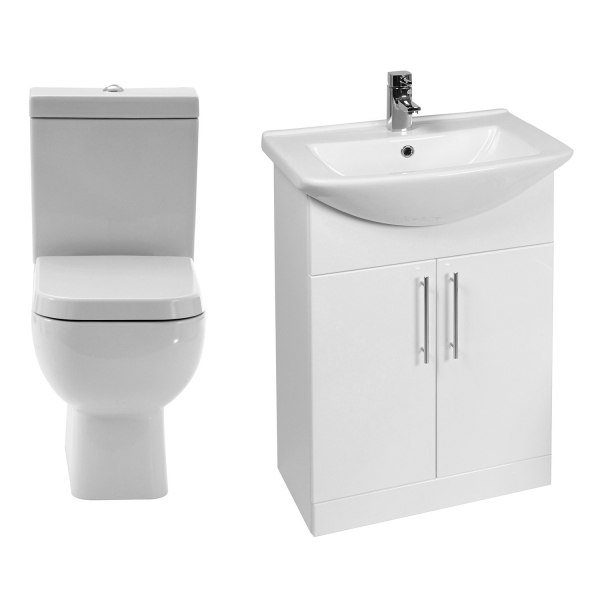 RAK Series 600 WC with 550mm Unit and Basin