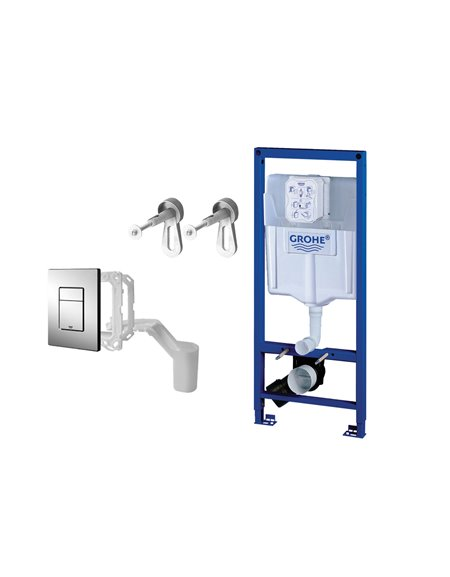 Grohe Fresh 0.82m Frame Support with Cistern and Flush Plate