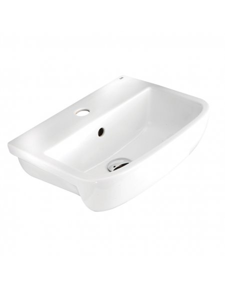 Frontline Series 600 420mm Semi-Recessed Basin (2 Tap Holes)