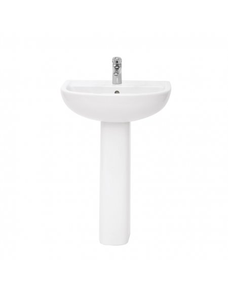 Frontline Compact Rimless 550mm Basin (2 Tap Holes)